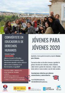Cartel de Helsinki España para Jóvenes para Jóvenes 2020