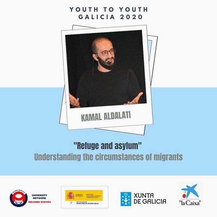 cartel jóvenes para jóvenes Galicia 2020 inglés