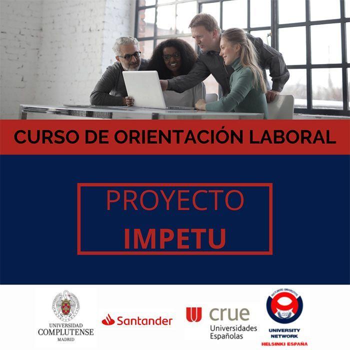 """Cartel Proyecto IMPETU """"IMpacto de la Pandemia En el TUrismo de España: Implicaciones en el Empleo de las Mujeres en un sector Femenino"""""""