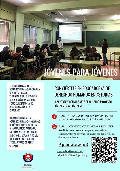Jóvenes para Jóvenes Asturias 2021 Helsinki España