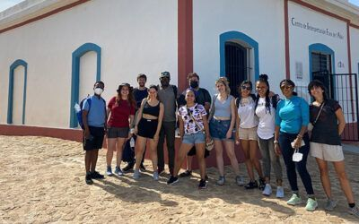 The students of the international REACT course visit the Faro de l'Albir and the Villa Romana Museum