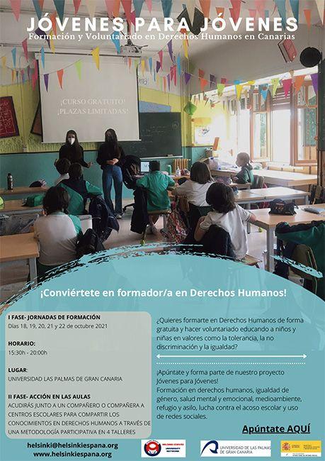Cartel de difusión Canarias Jóvenes para Jóvenes Helsinki España