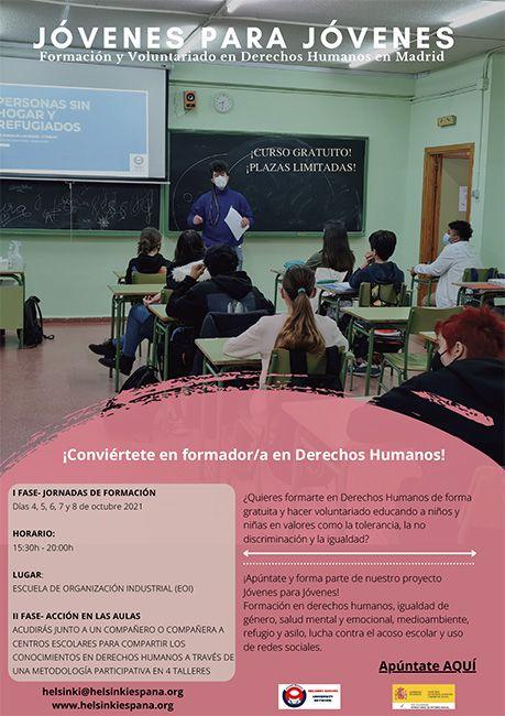 Cartel de difusión Madrid Jóvenes para Jóvenes Helsinki España
