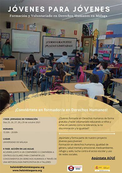 Cartel de difusión Malaga jóvenes para jóvenes Helsinki España